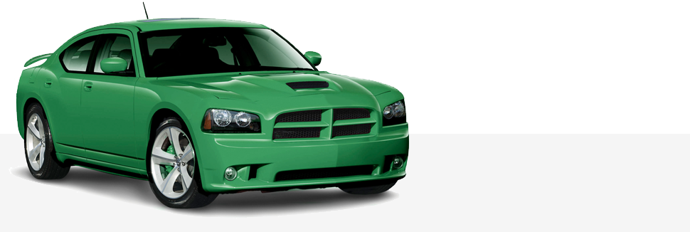 green car east